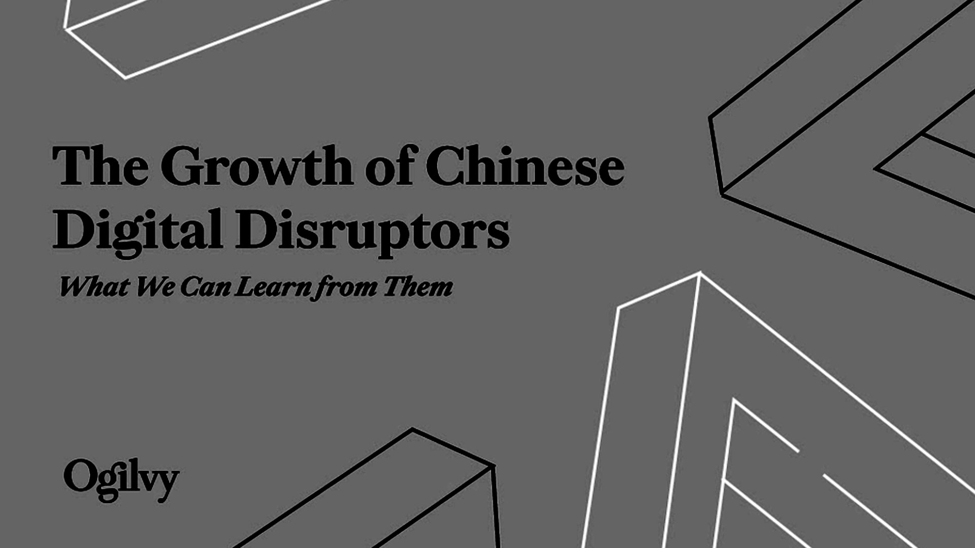 The Growth of Chinese Digital Disruptors